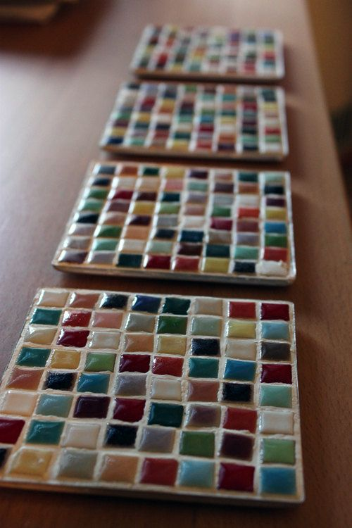 Mosaic Tile Coasters Interior Decorating Ideas