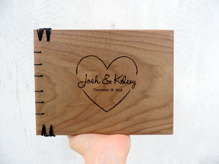 Handmade wedding guest book personalized gift