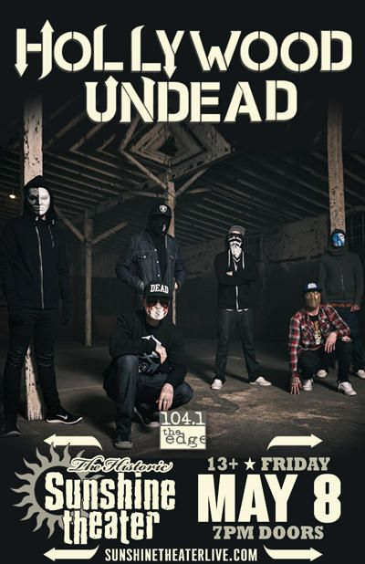 Hollywood Undead * Cane Hill Albuquerque @ Sunshine Theater - May 8th 2015 8:00 pm