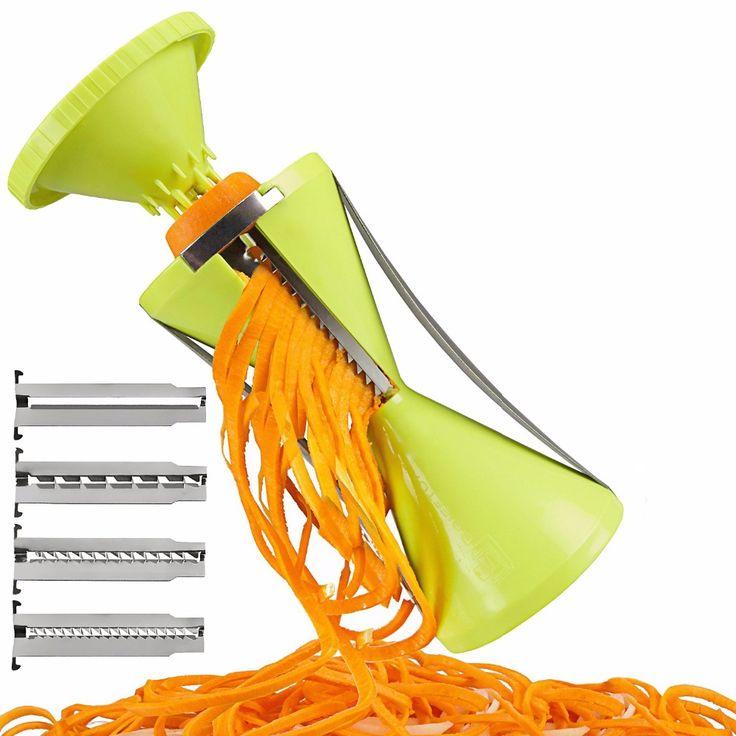 Spiral Slicer Spiralizer Vegetable Cutter Carrot Noodle Julienne Grater Veggie Spaghetti Pasta Maker Salad Maker