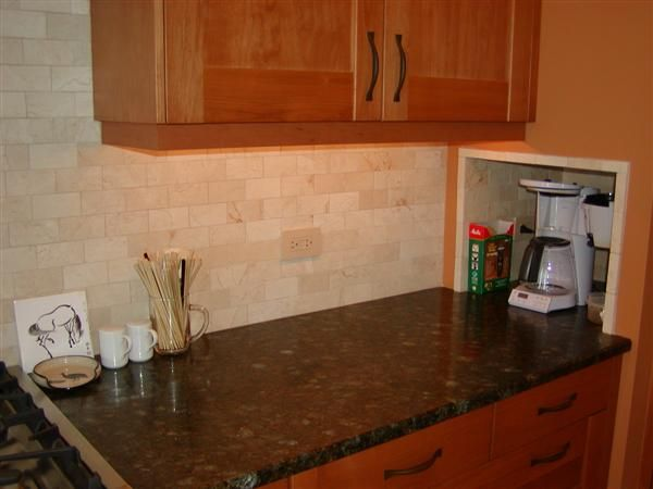 Does Anybody Have Have Crema Marfil Tile For A Backsplash Kitchens