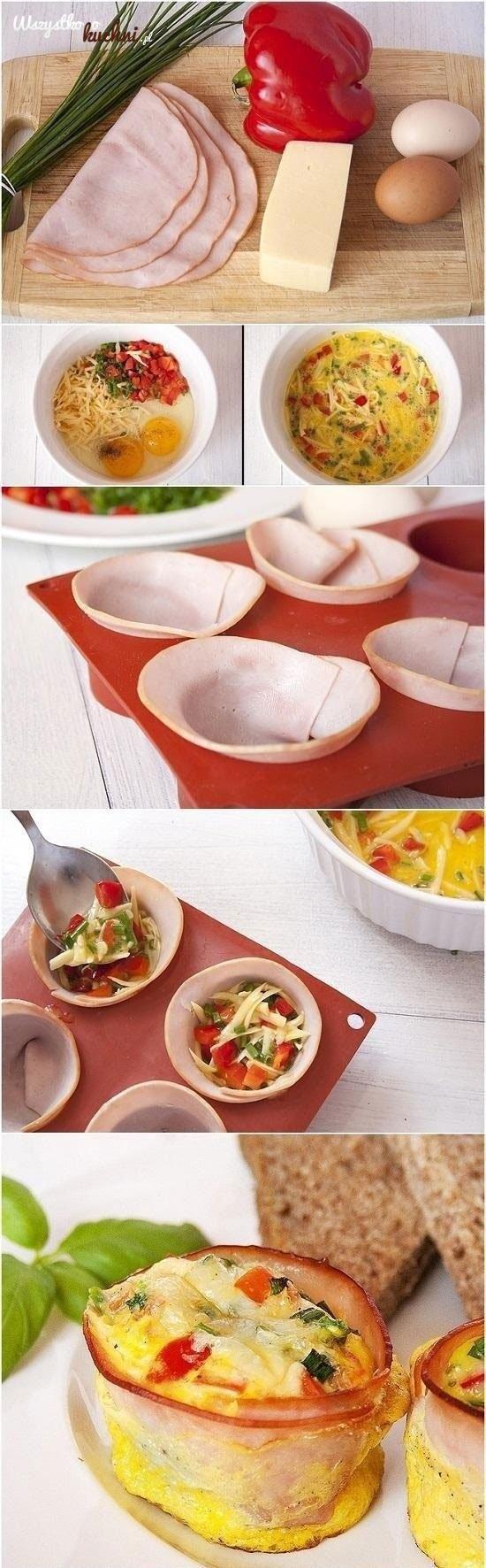 Zobacz jak zrobić jajka zapiekane w kokilkach z szynką i...