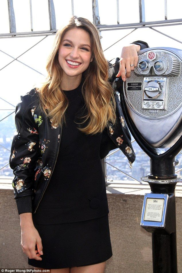 Supergirl Melissa Benoist awkwardly responds to Jeb Bush calling her 'pretty hot' | Daily Mail Online
