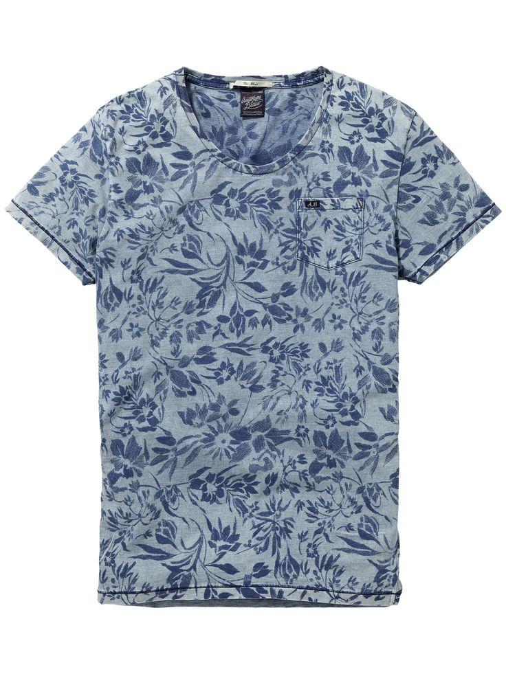 Indigo Tee   T-shirt s/s   Men Clothing at Scotch & Soda