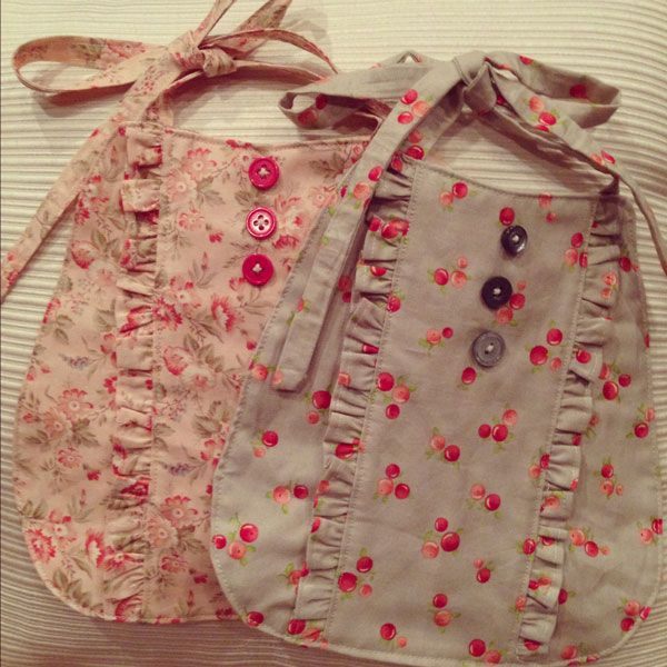 CUTE homemade baby bibs