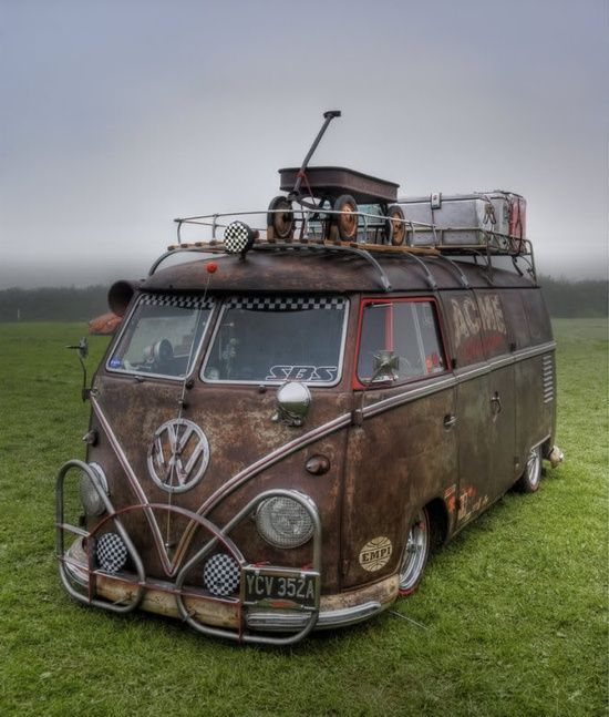 Coolest Rat Rod VW Bus - Ever!