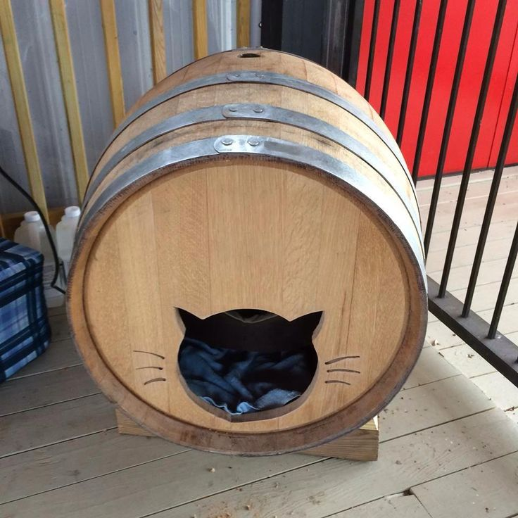Heated Wine Barrel Cat House Made By Tim Gorman Cardinal Point