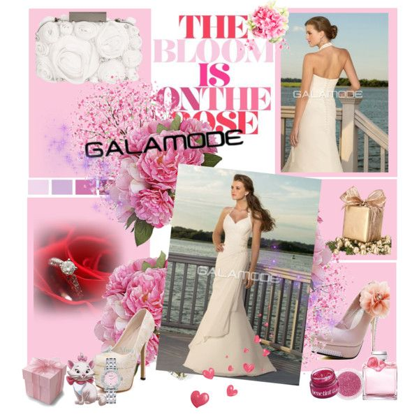 Robe de Mariée by galamode on Polyvore featuring Matthew Williamson, Tiffany & Co., Ralph Lauren, Benefit, Sephora Collection, Diane James and Disney