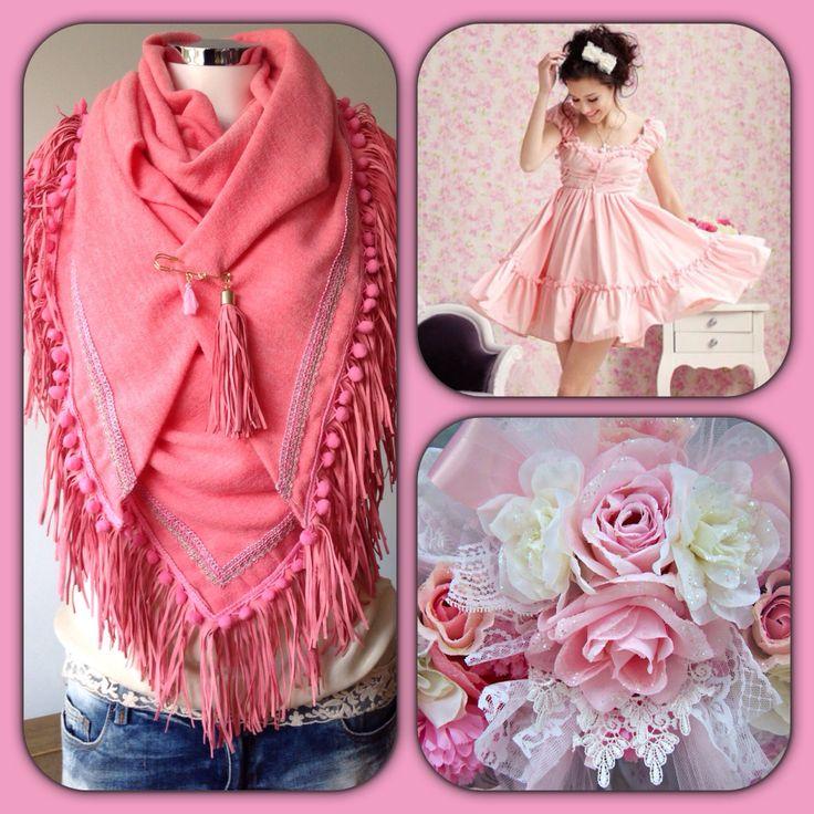 Scarve#pink#happy collors