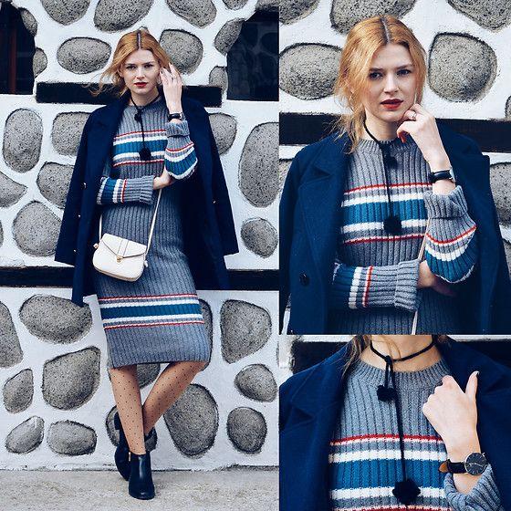 Maria V. - Poppy Lovers Fashion, Luna Amora (Chocker), (Similar), Style Moi (Coat), Daniel Wellington, Uk Tights, Zaful - SELFISH LOVE | M&M FASHION BITES