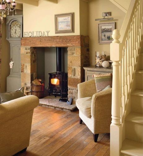 beautiful fireplace and clock