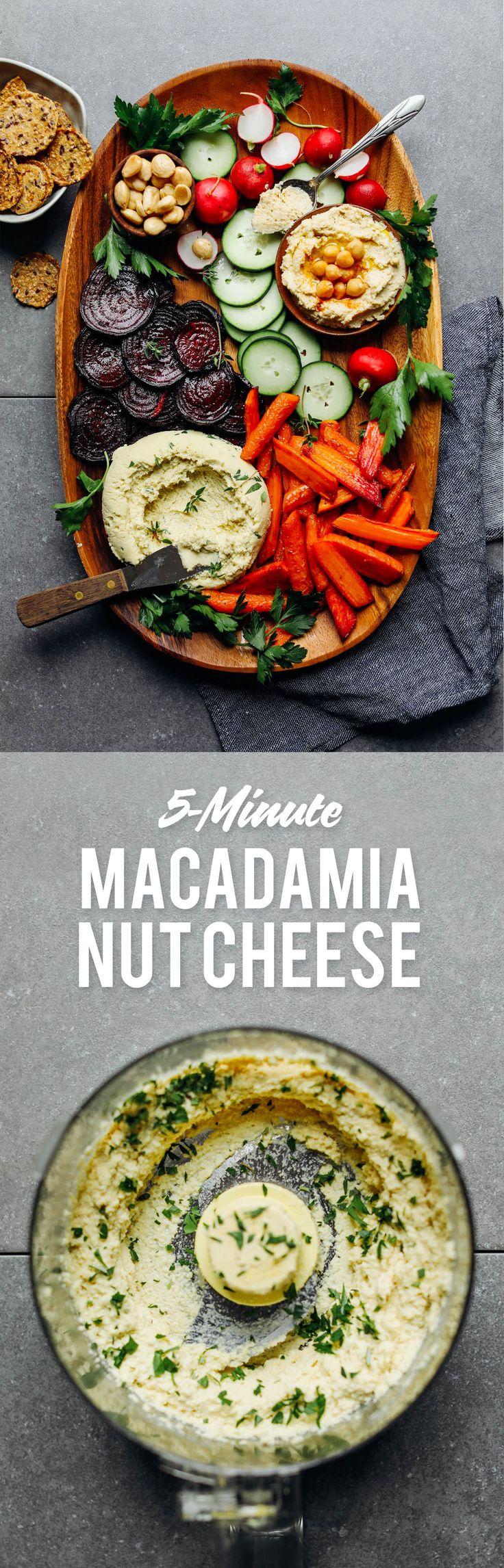 Easy VEGAN Crudite with Macadamia Nut Cheese  #minimalistbaker