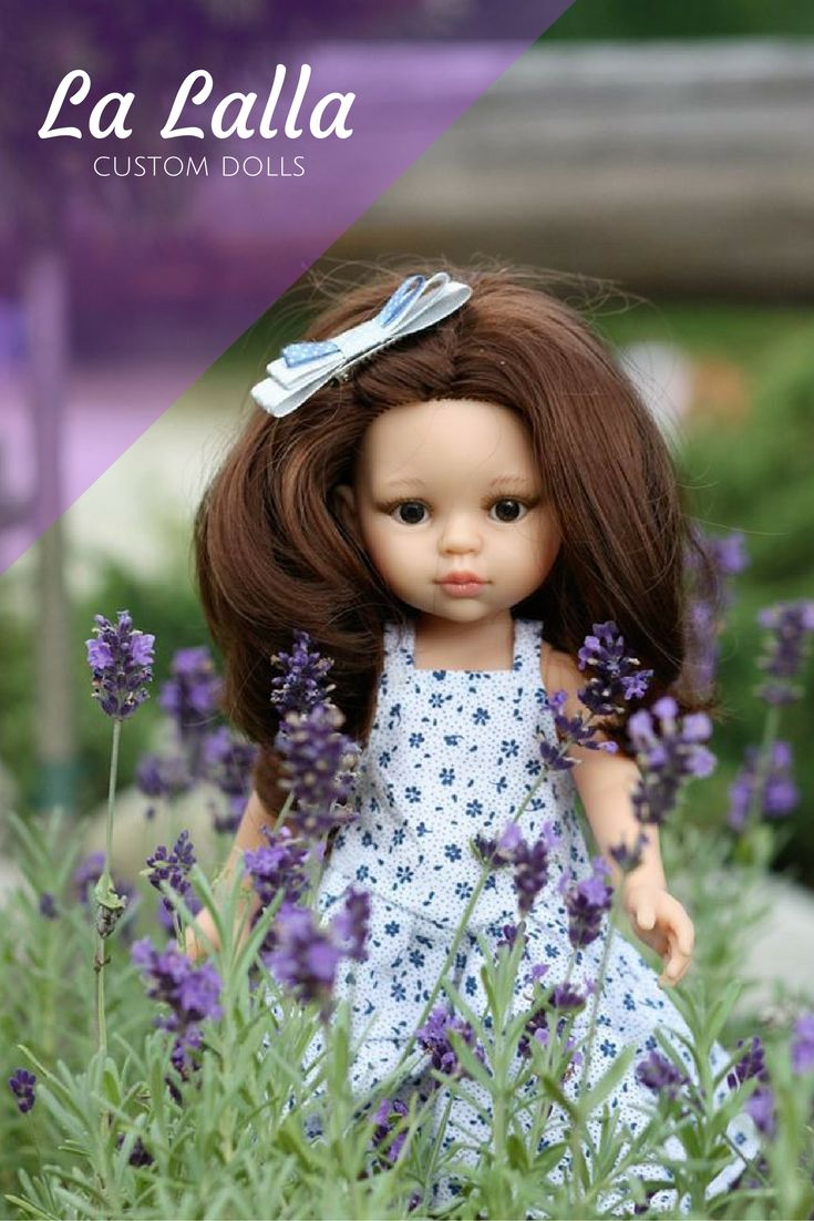 La Lalla amazing custom dolls. You can choose the color of eyes and hair. Doll comes with matched dress for it and girl. You can upgrade with many lovely accessories. #custom doll #gift idea #doll #present