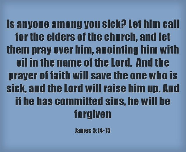 15 best anointing of the sick images on pinterest catholic roman here are seven bible verses that speak about illness james 514 16 fandeluxe Choice Image