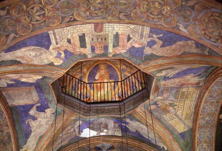 Ca. 1180 FESCO / in Sankt-Martha en Sankt Clement Schwarzrheindorf dubbelkerk Duitsland CHRISTUS PANTOCRATOR