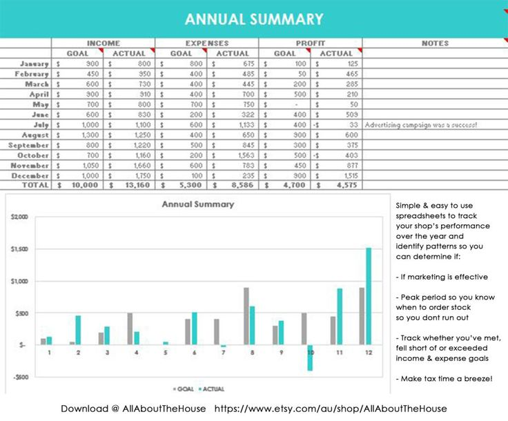 Business Spreadsheet, etsy seller, template, tool, income, expenses, profit, loss, bookkeeping, accounting