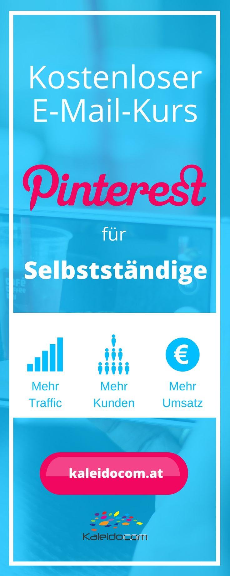 Heute noch anfangen und Pinterest strategisch nutzen! Kostenloser E-Mail-Kurs mit zahlreichen Tipps und Tricks.
