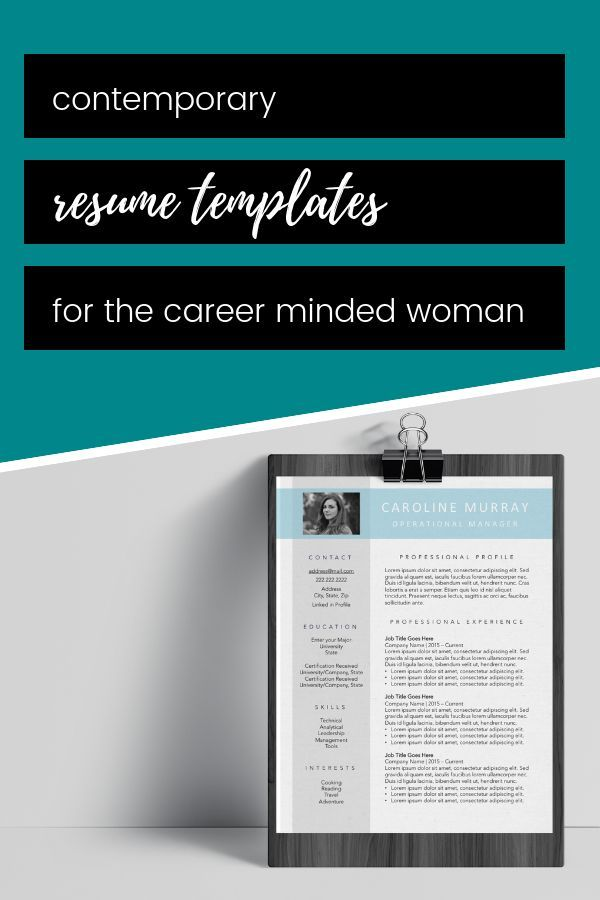 contemporary resume template resume designs for modern working