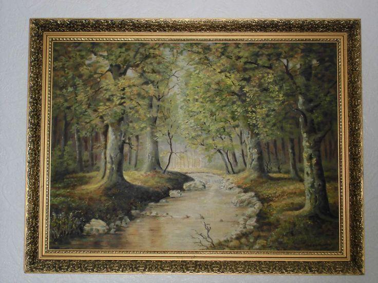 Alte Malerei, Ölgemälde auf Platte