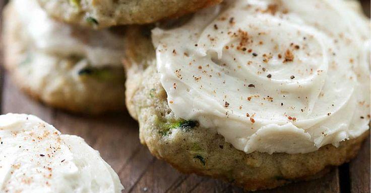Vláčné cuketové sušenky s máslovým krémem