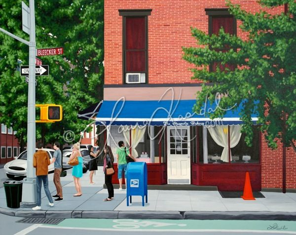 Magnolia on Bleecker, NYC by Laura Kaardal, Acrylic on Canvas