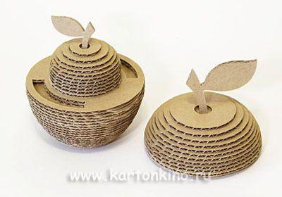 3D яблоки из картона своими руками