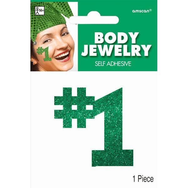 Green #1 Body Jewelry | 1 Piece