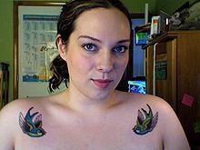 Swallow tattoo - Wikipedia, the free encyclopedia   Barn swallows... meaning