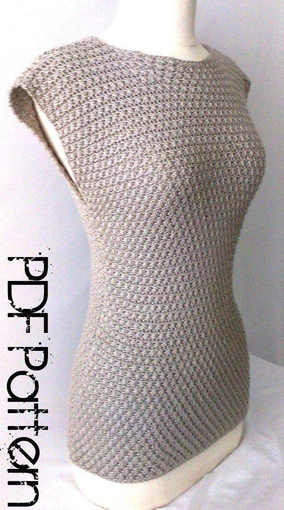 Crochet Top Pattern Crochet Shirt Pattern - Plus Size Crochet ...