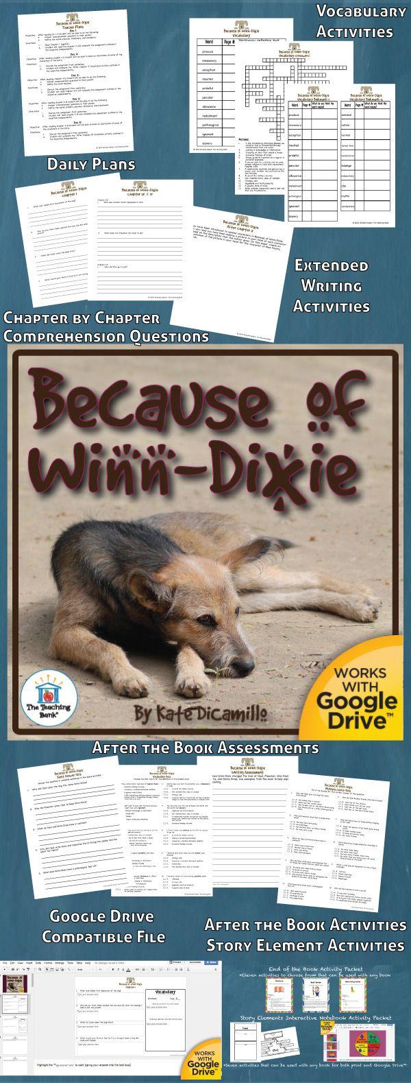Because Of Winndixie Novel Study Is Amon Core Standard Aligned Bok Unit To