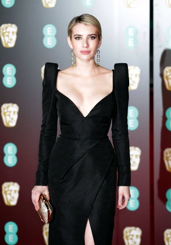 (Yui Mok - PA Images via Getty Images) Photos From The Baftas Red Carpet: Emma Roberts attending the EE British Academy Film Awards held at the Royal Albert Hall, Kensington Gore, Kensington, London.20180218