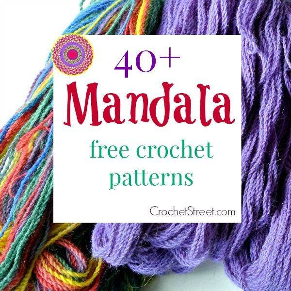 40+ impresionantes patrones libres Mandala Crochet - CrochetStreet.com