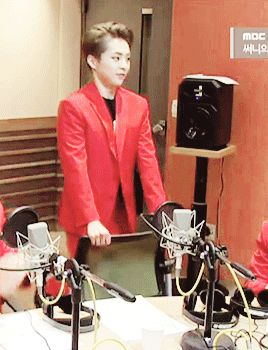 Our 26-year-old child Xiumin. <<< Though, honestly... We're all tempted to do this at any age, right?! ^.^