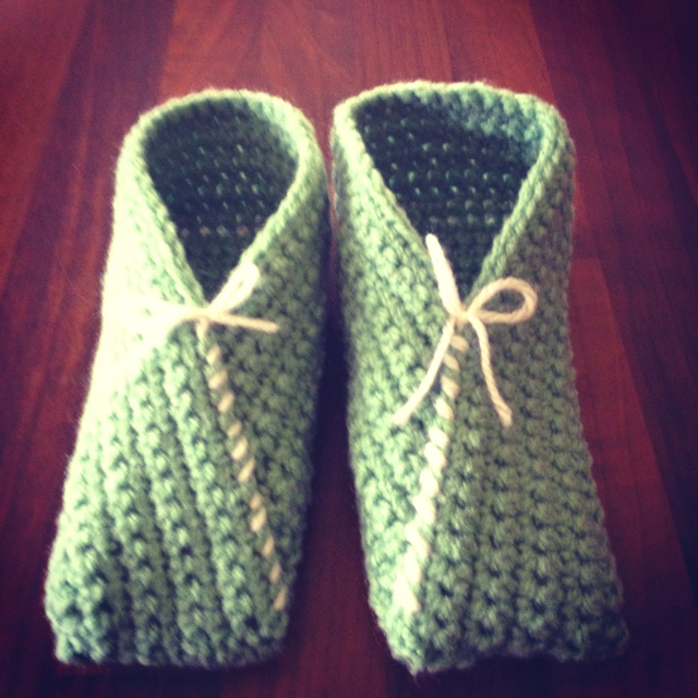 Crochet slippers made by me