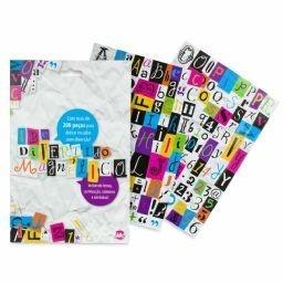 Imãs letrinhas diversas tipografias- Material: Manta magnética R$19,90