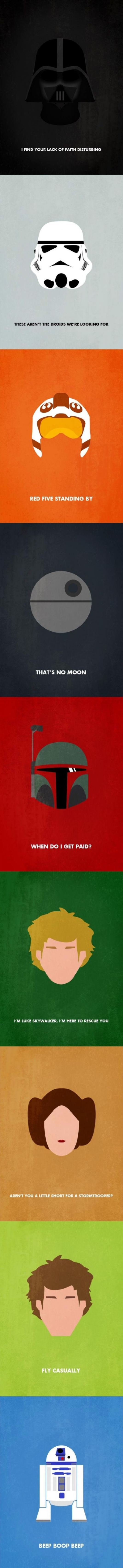 Famous Star Wars Characters Quotes.. These would make great posters.