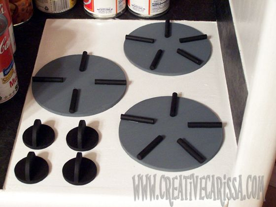 How to Make a DIY Play Kitchen Part 3: How to Make the Sink, Countertop and Stove ~ Creative Green Living