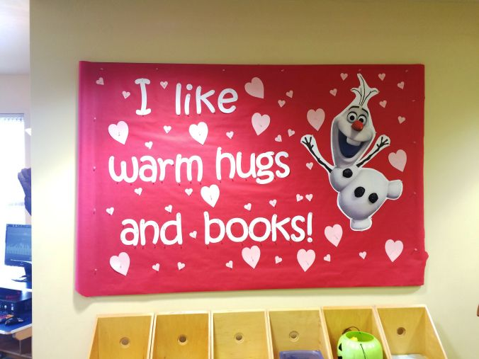 Valentine's Day Olaf bulletin board
