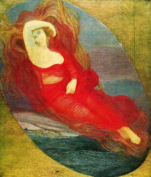 Goddess of Love, Giovanni Segantini, 1894