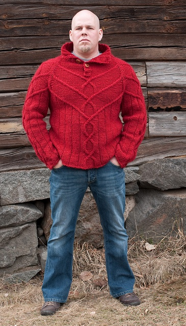 Amazing...why have I never seen nor knitted this? Perfect for a plus sized man.