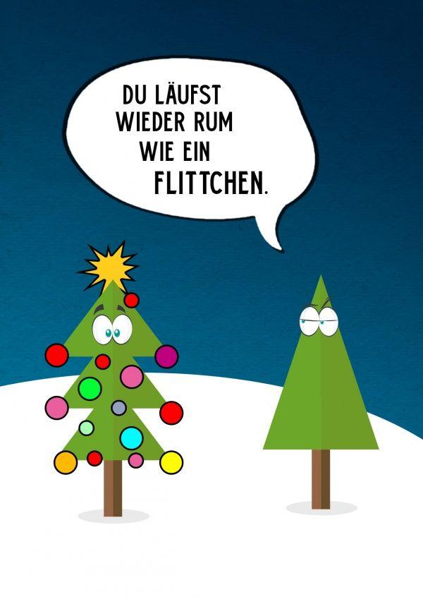 Wie ein Flittchen | Frohe Weihnachten | Echte Postkarten online versenden…
