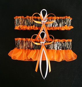 Mossy Oak Orange Plus Size Wedding Garter Set Camouflage Camo Deer Hunter | eBay