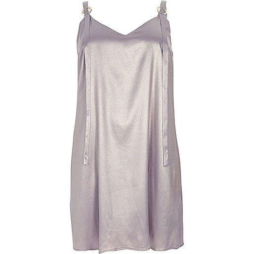 Plus – Kleid in Helllila-Metallic