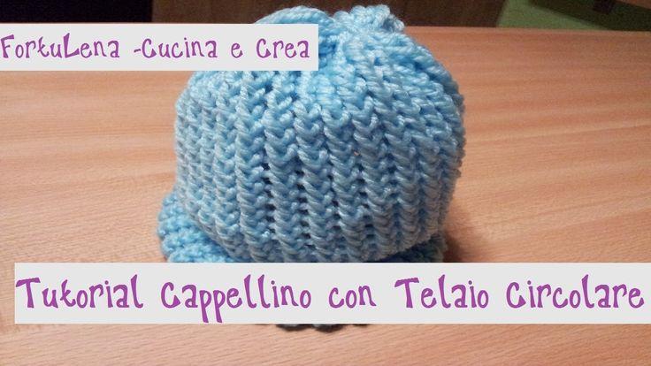 Tutorial Cappellino in lana con Telaio Circolare. Il telaio circolare basta metterlo alla mano ed è semplicissimo e molto utile da usare!! ^_^