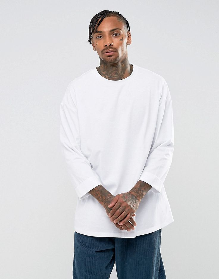 ASOS Oversized T-Shirt With Roll Sleeve - White