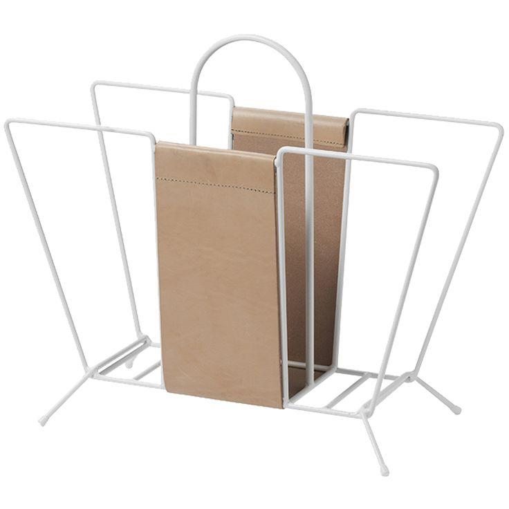 Suitcase aviskurv, hvit i gruppen Inredningsdetaljer / Oppbevaring / Avisstativ hos ROOM21.no (1025344)