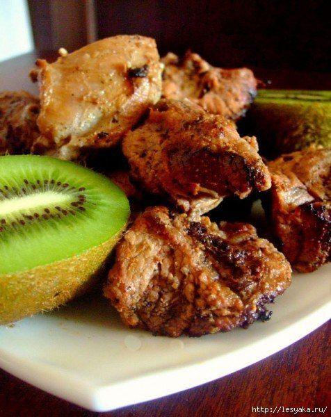 Шашлык с маринадом из киви: самый нежный и ароматный