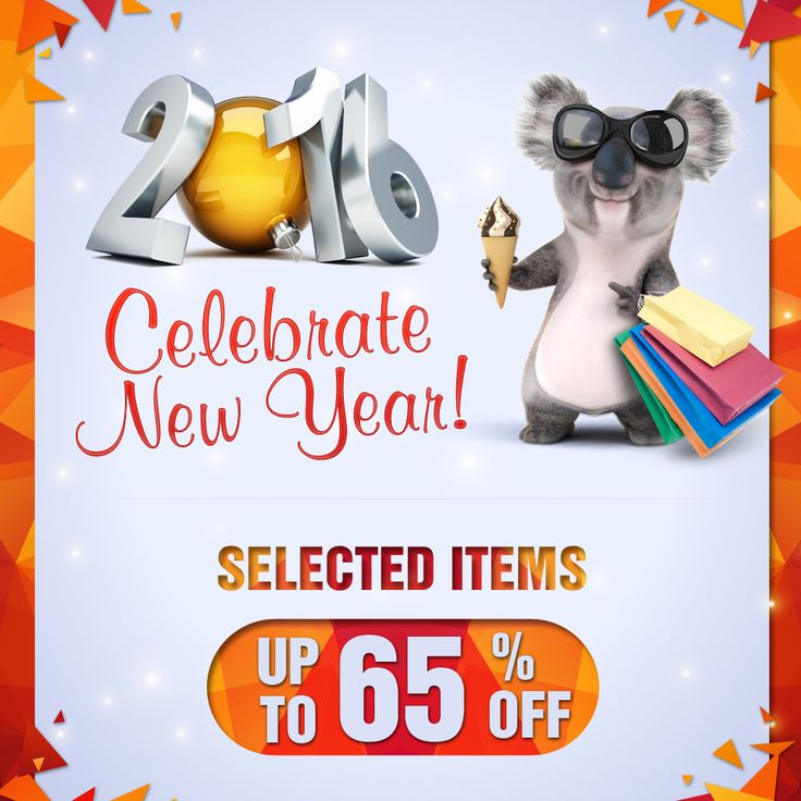 To celebrate the new year 2016, we have up to 65% off selected items for you.  #bargains #newyears2016