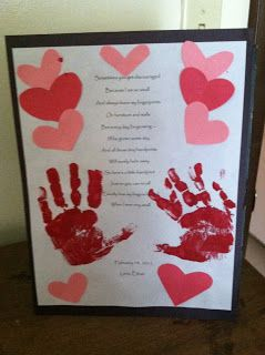Valentine's Day Handprint Poem.. doing this for my room!