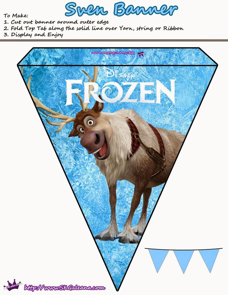 Frozen: Lindos Banderines para Imprimir Gratis.
